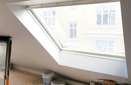 Adding light to an interior - roof window