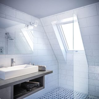 Better Safe PVC roof window bathroom