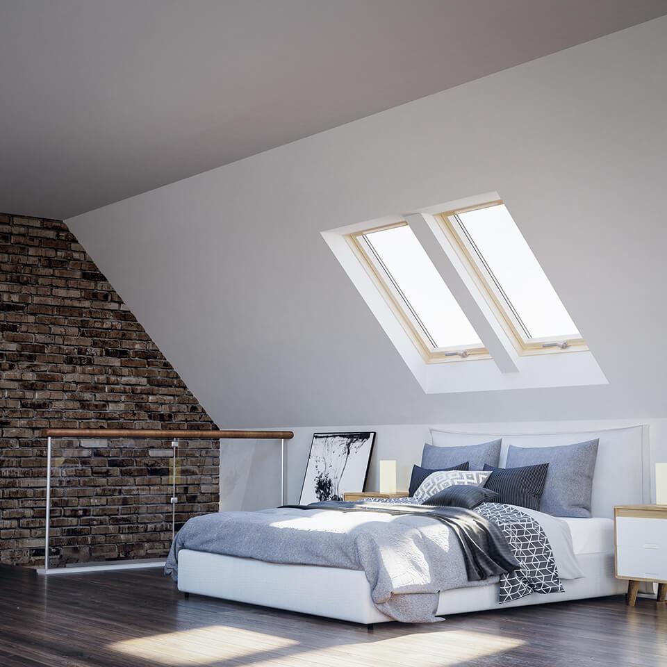 okna dachowe - sypialnia